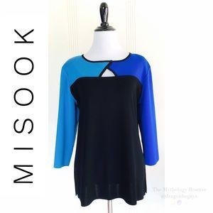 Misook Color Block Sweater